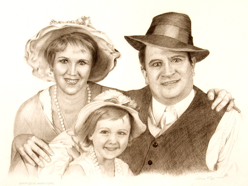 Capps Family Olden Days Portrait
